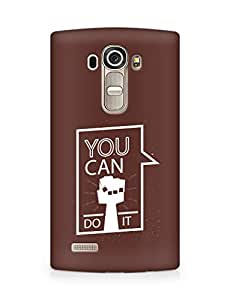 Amez You can Do It! Back Cover For LG G4