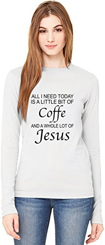 all-i-need-is-big-of-coffe-and-whole-lot-of-jesus-funny-t-shirt-da-donna-a-maniche-lunghe-long-sleev