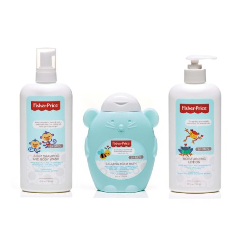Fisher-Price Infant Bath and Body 3 Piece Variety Gift Set - 1