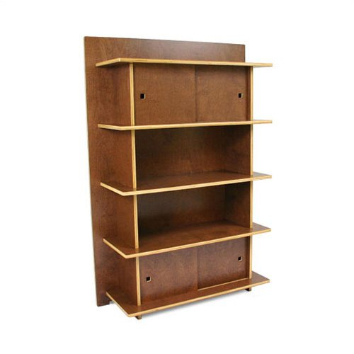 "In Modern 200011-009 Linear Cocoa 60"" H No-Tool-Assembly Storage Bookcase"