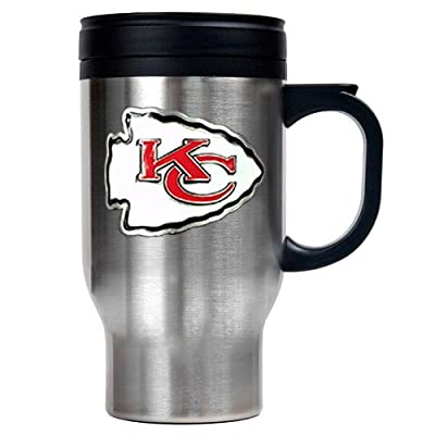 Kansas City Chiefs NFL 16oz Stainless Steel Travel Mug