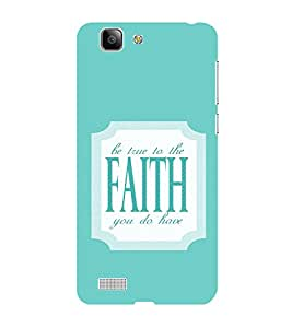 ifasho Faith Quote Back Case Cover for VIVO X3S