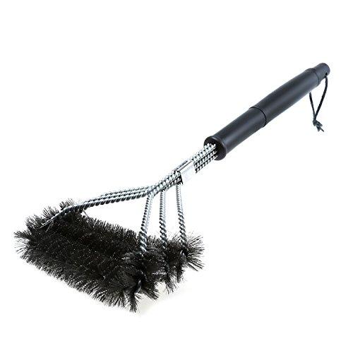 Foonii inoxydable brosses en acier pour grille et barbecue au charbon de bois, gaz, porcelaine etc - 45,7 cm longue