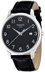 Tissot Men's TIST0636101605200 T Classic Analog Display Swiss Quartz Black Watch