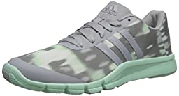 adidas Performance Women\'s A.T 360.2 Prima Training Shoe, Clear Onix Grey/Cleary Onix Grey/Frozen Green, 6 M US
