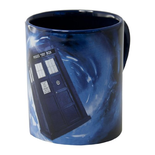 Bbc Doctor Who 12 Oz Mug With Hidden Tardis (Red Galaxy)