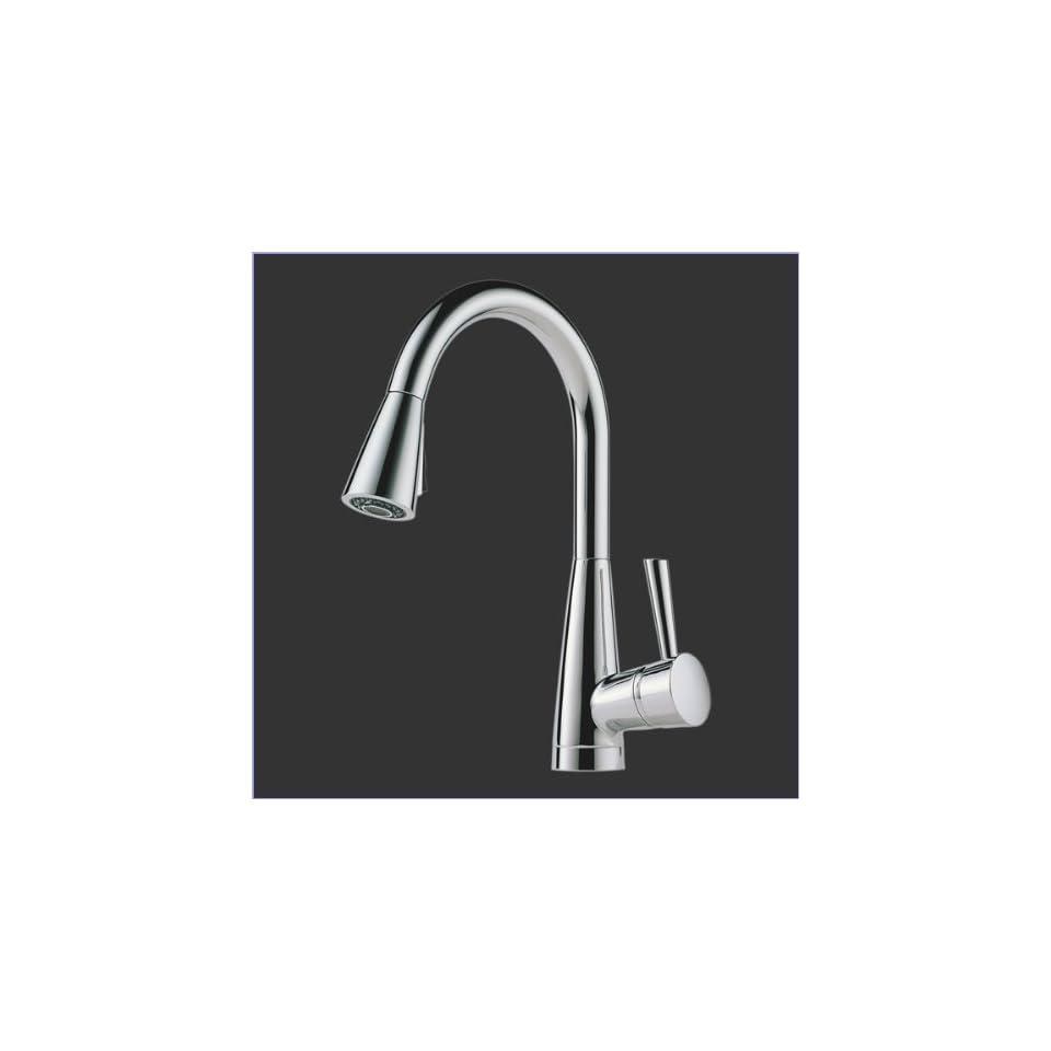Brizo 63070LF PC Single Handle Pull Down Kitchen Faucet Chrome
