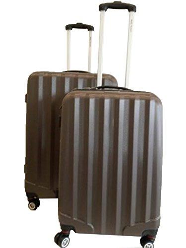 lot de 2 valises-chariots 8 roues - extensible - entièrement doublé - serrure à codes- système trolley intérieur