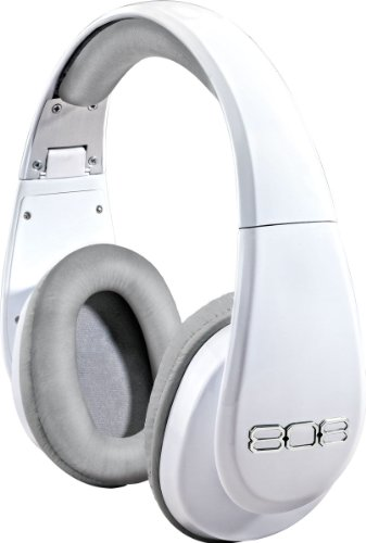 808 Studio Precision-Tuned Over-Ear Headphones- Gloss White