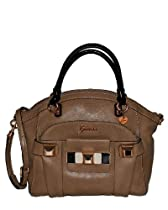 GUESS Isia Dome Satchel (Camel Multi)