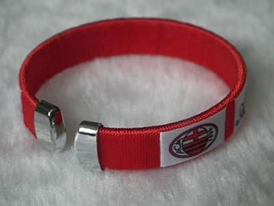 ac milan futbol football soccer badge logo wristband bracelet