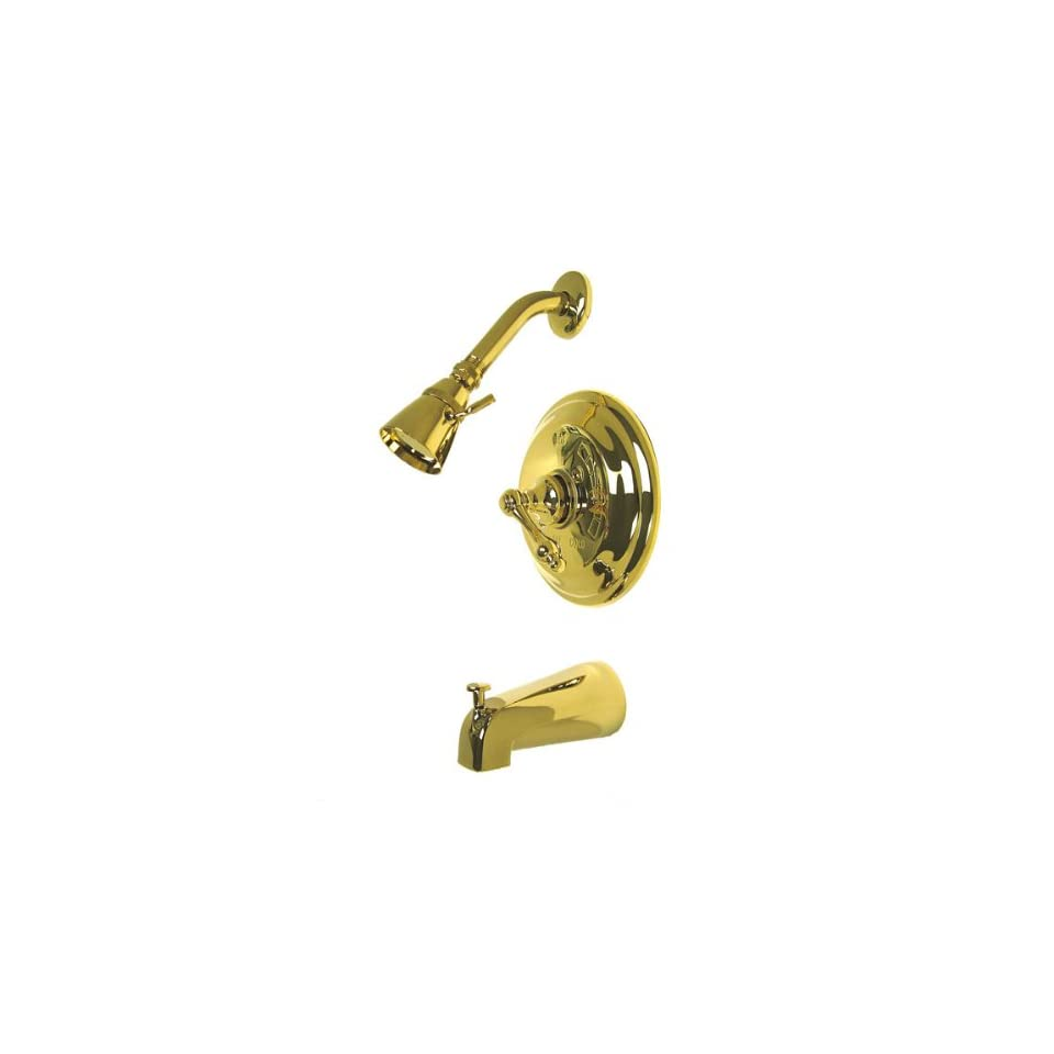 Elements of Design EB3632AL St. Louis Single Handle Tub and Shower Faucet, Polished Brass