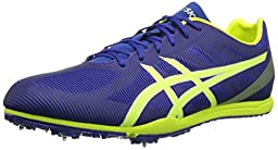 ASICS Men\'s Heat Chaser Track And Field Shoe,Deep Blue/Flash Yellow,9.5 M US