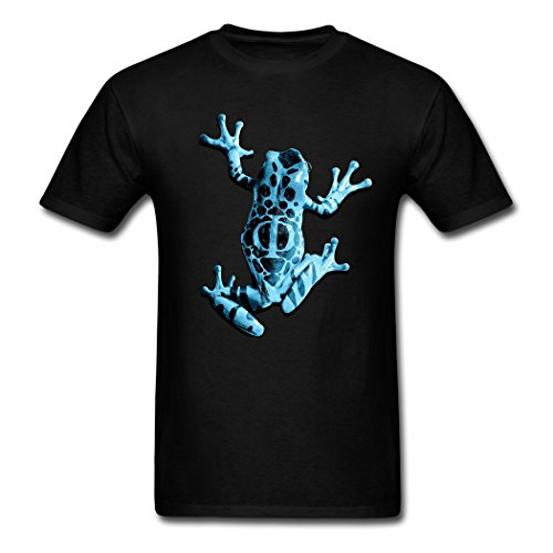 Lifelike Frogs Clear Print Design Black Customize Men's T-shirt X-Large