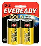 Eveready Gold Alkaline D Battery, 2-Count (12-Pack)