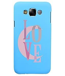 KolorEdge Back Cover For Samsung Galaxy E7 - Sky Blue (5870-Ke15106SamE7SBlue3D)