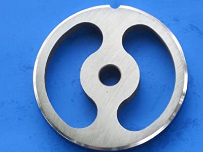 #12 size Kidney shaped Sausage Stuffing plate for Hobart, LEM, Cabelas, TorRey, MTN Meat Grinders. Stainless steel disc = no rust!