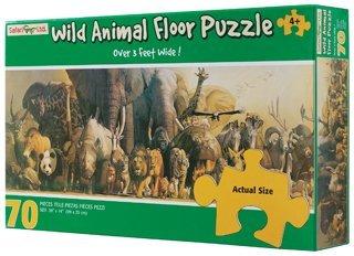 Safari LTD Wild Animal Panoramic Puzzle 70-pc