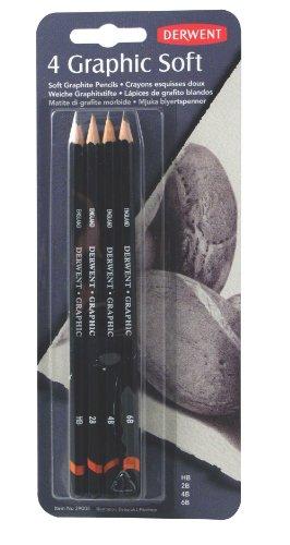 derwent-graphic-lapices-de-grafito-blandos-4-unidades