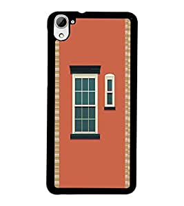 PrintDhaba House Window D-5972 Back Case Cover for HTC DESIRE 826 (Multi-Coloured)