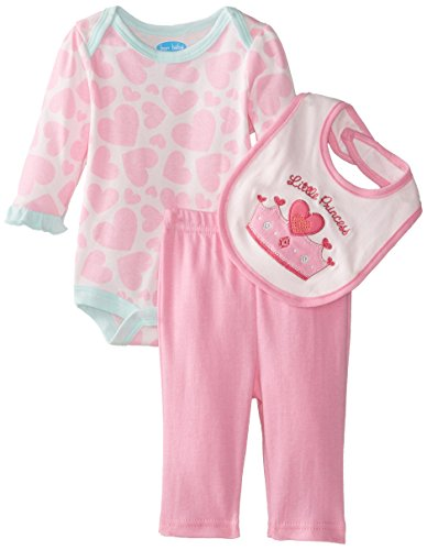 Bon Bebe Baby-Girls Newborn Little Princess 3 Piece Pant Set, Multi, 0-3 Months front-1075762