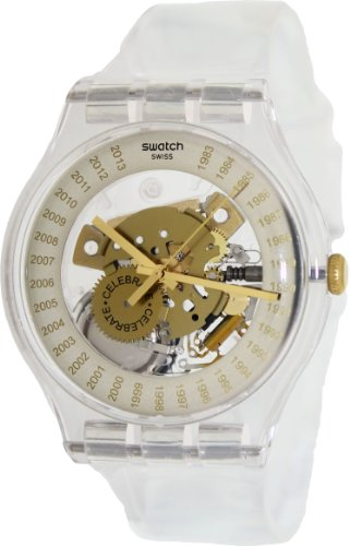 Swatch SUOZ161 swatch est.1983 transparent dial band unisex watch NEW 30th anniversary