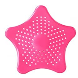 Shopo's 3 PCs Starfish Hair Catcher Bath Sink Strainer Catcher Drain Cover(Multi Color)