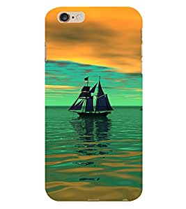 Fiobs Designer Phone Back Case Cover Apple iPhone 6 Plus :: Apple iPhone 6+ ( Sailing Boat Lovely )
