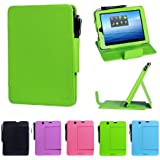 i-UniK E FUN 2013 Nextbook Premium 8HD Multi-Angle Slim Protection Case / Cover Dual Core with Google Play [NOT FIT 2014 Nextbook 7.85 / Nextbook 8] - (Lime Green)