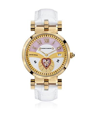 Chrono Diamond Reloj de cuarzo Woman 11910 Feronia 38 mm Blanco