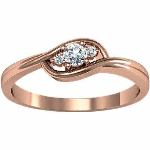 10K Rose Gold Diamond Ring - 0.12 Ct. - Size 5