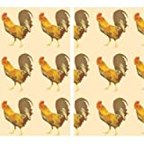 HomArt Roosters Large Decorative Wood Matches Set Of 3 matchboxes