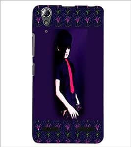 PrintDhaba Girl Design D-2473 Back Case Cover for LENOVO A6000 PLUS (Multi-Coloured)