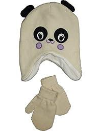 Winter Warm-Up - Baby Girls Hat and Mitten Set, Ivory 33803-6-12Months