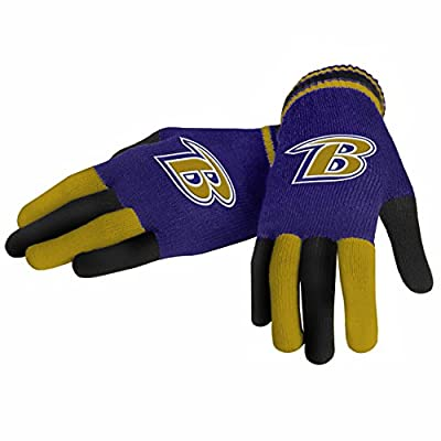 Baltimore Ravens Forever Collectibles Multi Colored Knit Gloves Ladies One Size