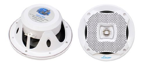 Pyle Lanzar Aq6Cxw 400 Watts 6.5-Inch 2-Way Marine Speakers (White)