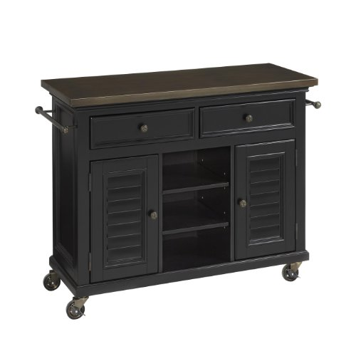 Home Styles 5588-95 Bermuda Kitchen Cart, Black front-503483