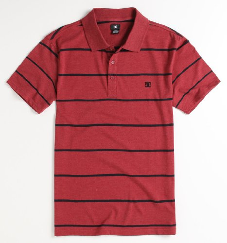 Dc Shoes Simply Heathered Polo - Red X Lrg Size