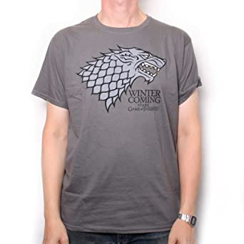 Game of Thrones Stark 'Winter is Coming' T-shirt (small)