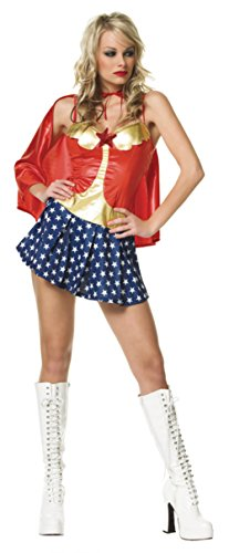 Leg Avenue Womens All American Babe Super Hero Outfit Fancy Dress Sexy Costume