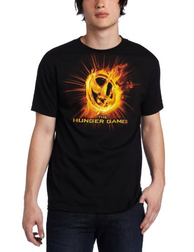FEA Merchandising Men's Hunger Games Movie Fire Mockingjay Tee