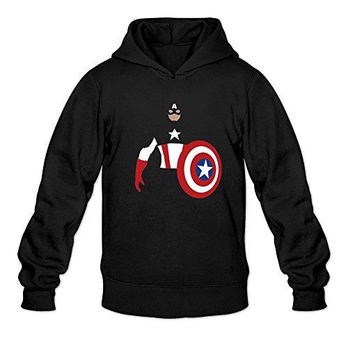 [BEVH Men's Captain America Hoodies Black] (Sims 3 Seasons Costumes)