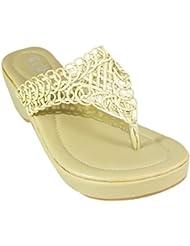 Hetre-commun Doctor Sole Wedge Sandals By Heels & Handles (HH625BeigeApricot)