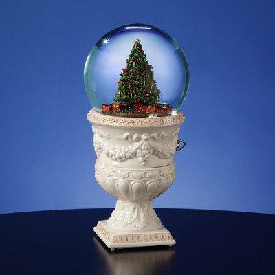 Christmas Tree Rotating Train Snow Globe Vase