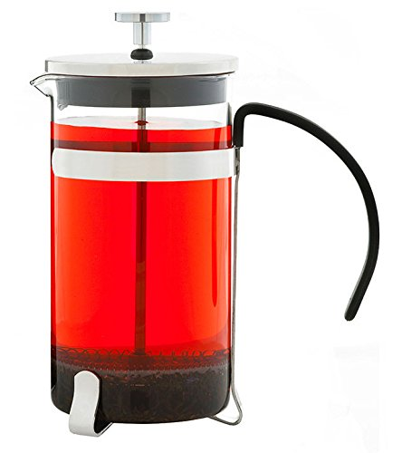 GROSCHE York Glass French Press Coffee and Tea Maker - 1000ml / 34 fl. Oz / 8 cup (3 Coffee Mugs)
