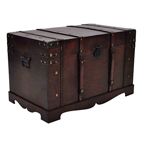 vidaXL Vintage Large Wooden Treasure Chest (Chest Wood compare prices)