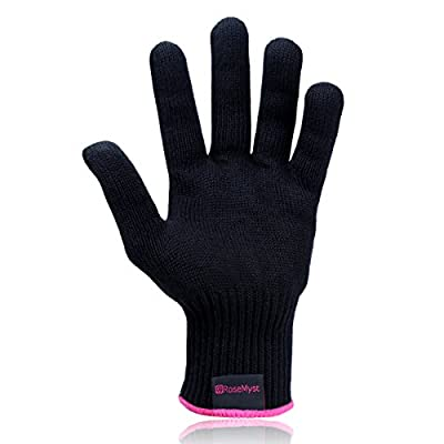 RoseMyst Professional Heat Resistant Glove for Hair Styling - Heat Insulation for Hair Iron and Curling Tools, Suitable for Left and Right Hands