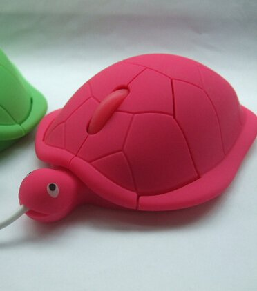 Turtle Shaped Mouse - Hot Pink