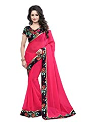 Fashion205 Women Faux Georgette Saree (OCO-AR8-1059_Red_Red_Free Size)