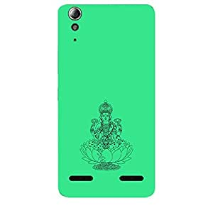 Skin4gadgets Maa Laxmi - Line Sketch on English Pastel Color-Turquiose Green Phone Skin for LENOVO A6000 PLUS